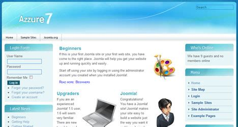 windows 7 templates windows 7 style joomla 1 6 template