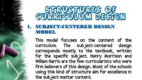 design is subjective karen frongoso curriculum design models