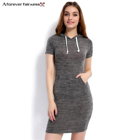 aliexpress buy a forever 2017 summer dress vestido hoodies casual gray dresses