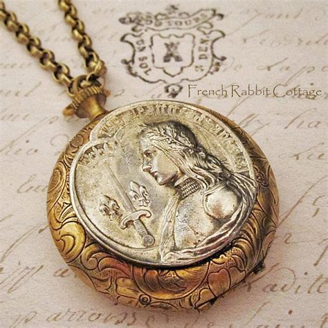 how to make metal st jewelry joan of arc locket necklace catholic