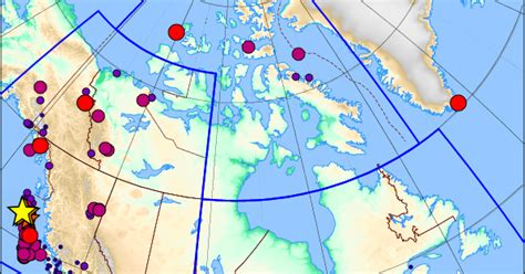 earthquake zones in canada the great pacific northwest earthquake