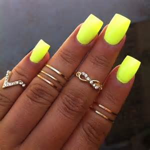 neon color nails i never thought i would like yellow nails but on skin