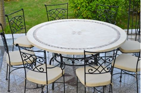 imhotep grande table ronde diam 232 tre 160 125cm mosa 239 que