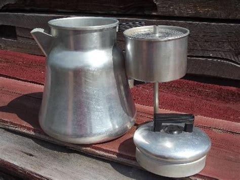 Fabric Shack Home Decor old wearever 3012 aluminum coffee pot percolator for camp