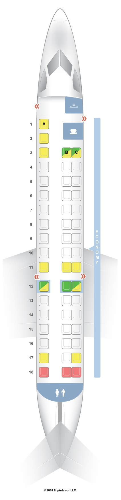 seating guru seatguru seat map american airlines embraer erj 145 er4