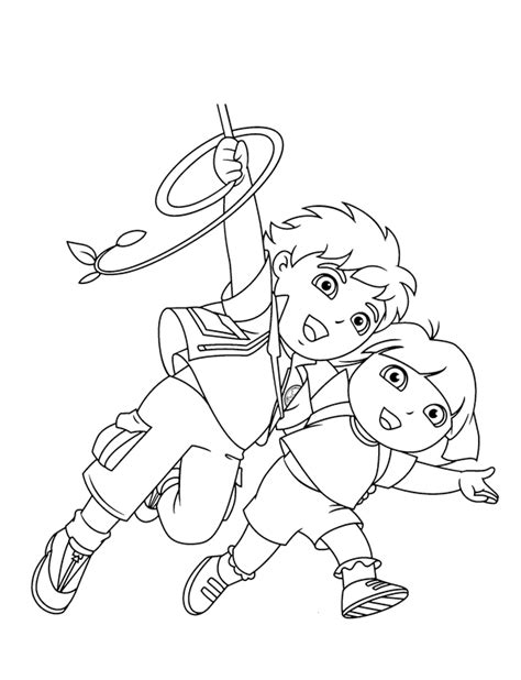 dora and diego coloring page dora diego coloring pages print cartoon coloring pages