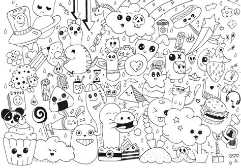 doodle page doodle coloring pages kawaii coloringstar