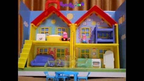 toys r us peppa pig house peppa pig peek and surprise playhouse unboxing youtube