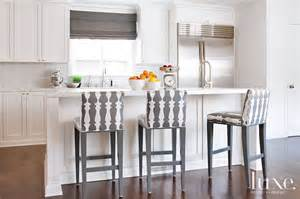 White Kitchen Bar Stools by Kitchen With Gray Counter Stools Transitional Kitchen