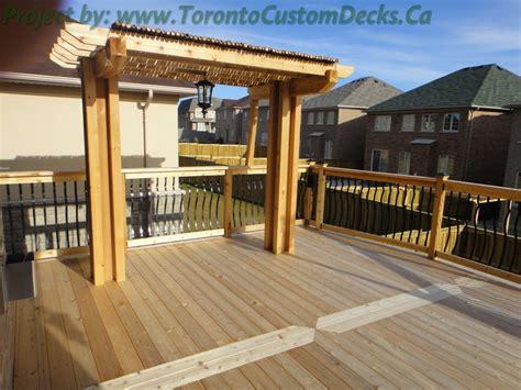 custom decks custom deck with basement walkout interlock toronto