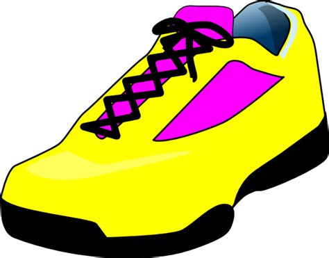 shoe clipart yellow shoe clip at clker vector clip