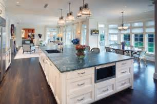 Hi tech kitchen with large island contemporary kitchen