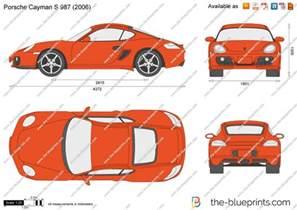 Porsche Cayman Dimensions The Blueprints Vector Drawing Porsche Cayman S 987