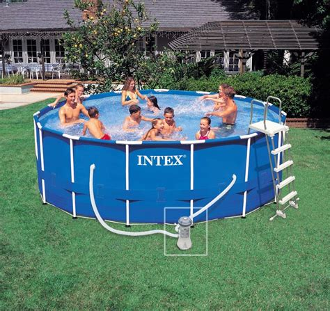 Spa Gonflable Pas Cher 820 by Piscine Intex Metal Frame 4 57x1 22 Piscines