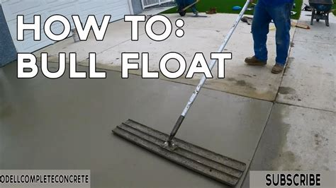 How to Finish Concrete with a Bull Float   YouTube