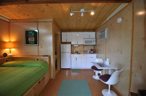 tiny homes interior two poolside tiny houses high end humble living
