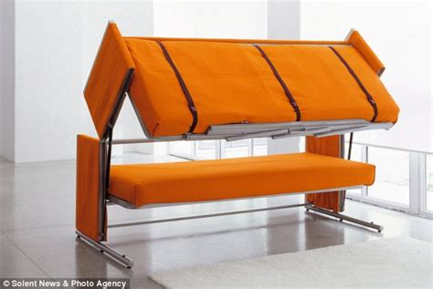 bunk beds with couch on the bottom 163 3 000 sofa that transforms into a bunk bed daily mail