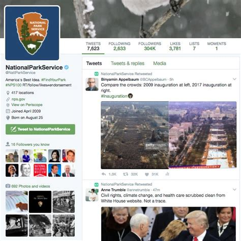 interior department twitter ban trump bans national parks service from tweeting after anti