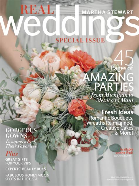 layout magazine flower martha stewart weddings cover feature november special
