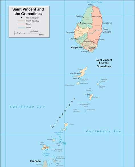 st vincent grenadines map st vincent map map of st vincent and the grenadines