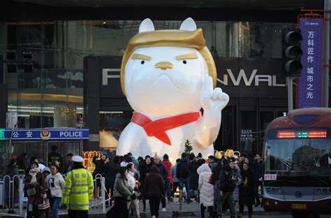 new year statue donald to welcome new year