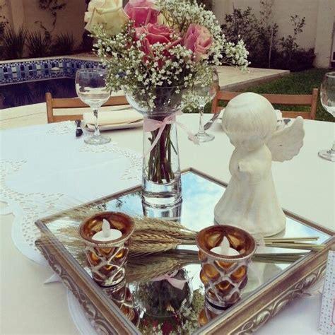 arreglos de mesa para bautizo con flores centro de mesa primera comunion para jaimi pinterest