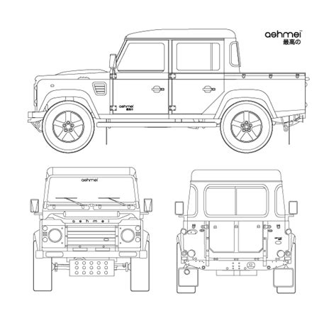 only drawing doodle defender land rover defender a icon ashmei