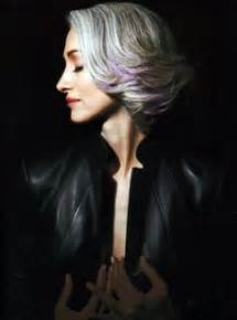 lavendar highlights in salt and pepper hair grey hair styles and colors on pinterest round faces