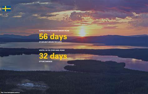 Find In Sweden Fact Daylight Sweden Se