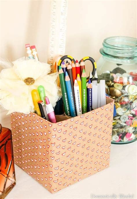 Paper Craft Items - craft supply holder hometalk