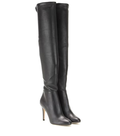 10 Jimmy Choo Boots by Jimmy Choo Toni Leather The Knee Boots In Black Lyst