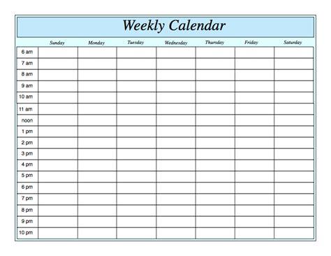 free weekly blank calendar template printable blank yearly calendars