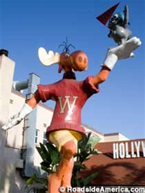 20-Foot-Tall Rocky and Bullwinkle (In Transition), West ... Jayne Mansfield Photo