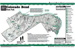 colorado state park map colorado bend state park geographic information systems
