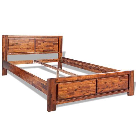solid acacia wood dresser vidaxl wooden bed frame solid acacia wood brown 140x200 cm