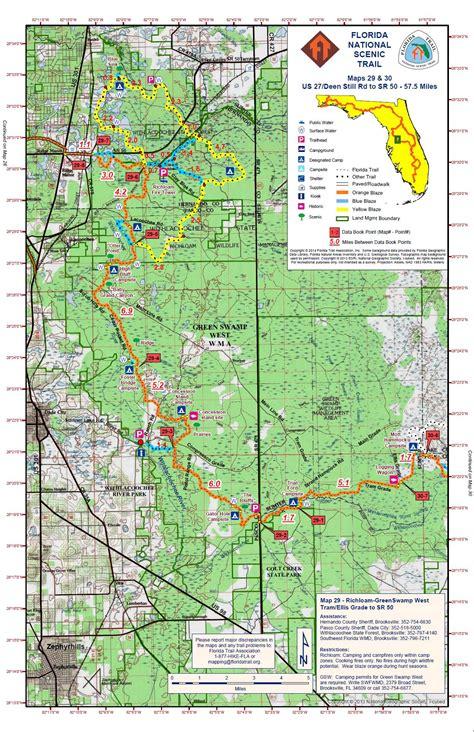 florida trail map files suncoast chapter florida trail association