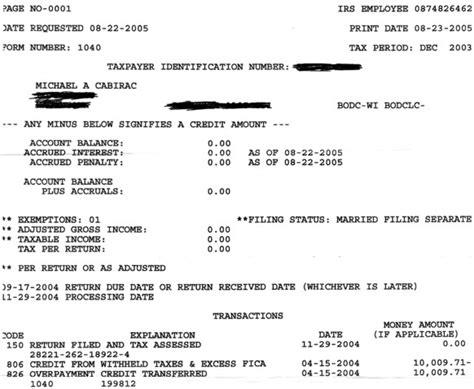 how does a tax transcript look like how does a tax transcript look like