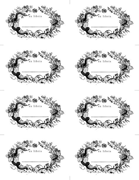 free bookplate template made with bookplates design sponge
