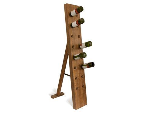 Floor Standing Wine Rack contemporary home accessories unique mango wood wine rack