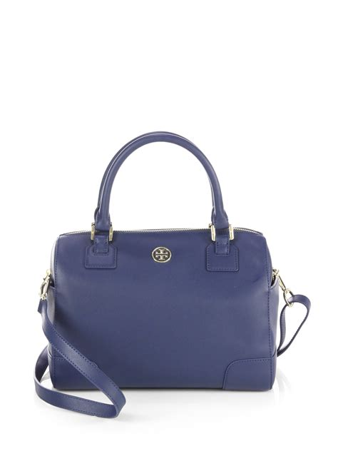 Burch Barcelet Sky Blue Ghw burch robinson middy satchel in blue sky lyst
