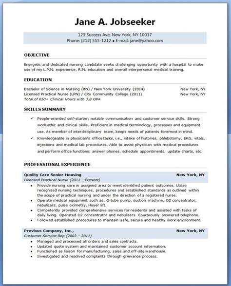 Nursing Student Resume Templates by Sle Resume For Nursing Student School Dayz