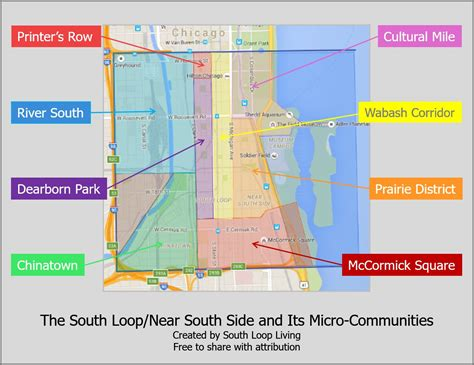 chicago map south side south loop borders our take south loop living