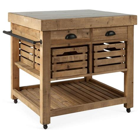 pine kitchen island belaney rustic lodge honey pine wood blue stone 37 inch
