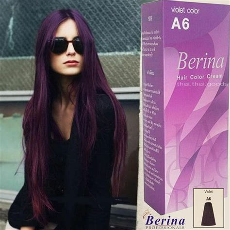 permanent purple hair color berina a6 purple violet permanent hair dye color