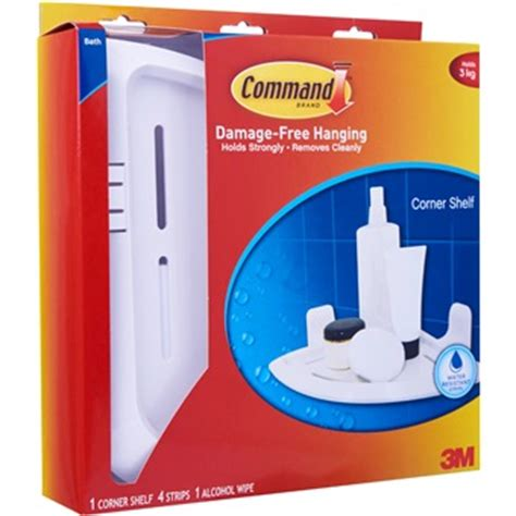 Command Shelf by 3m Command Corner Shelf 17627b Bathroom Kitchen
