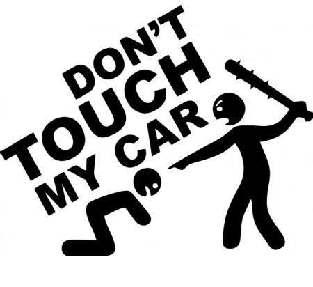Blaues X Aufkleber Auto Bedeutung by Car Tattoo Aufkleber Don T Touch My Car