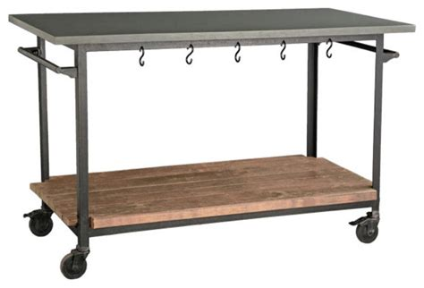 Kitchen Island Rolling Cart Rolling Console Cart Eclectic Kitchen Islands And
