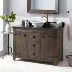 rustic bathroom vanities for vessel sinks 48 quot kane vessel sink vanity rustic brown bathroom