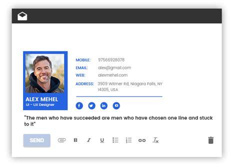 Free Email Signature Maker Generator Template Freelancinggig Free Email Template Creator
