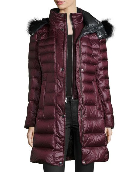 Coat Channel andrew marc channel quilted coat w fur trim neiman